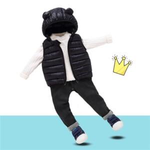 Winter Solid Hooded Gilet for Toddler Boy