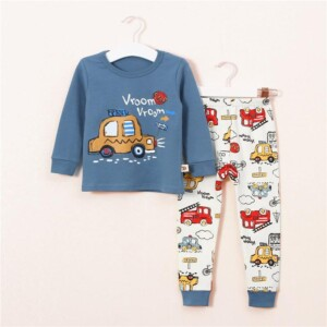 2-Piece Car Pattern Top and Pants