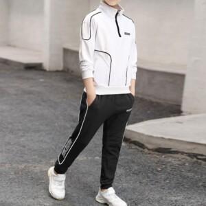 2-piece Stripes Sporty Coat & Pants for Boy