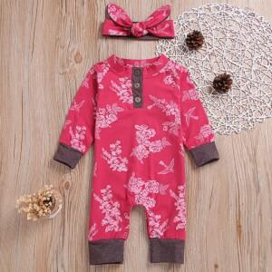 2pcs Floral Fashion Baby Jumpsuits