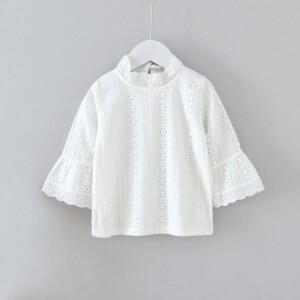 Solid Ruffle Shirt for Girl