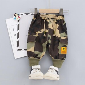 Camouflage Cargo Pants for Toddler Boy