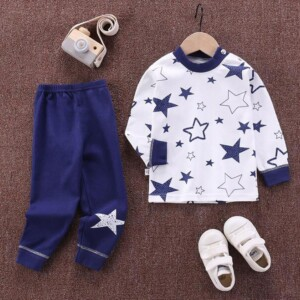 2-piece Vehicle Pattern Pajamas Sets for Toddler Boy