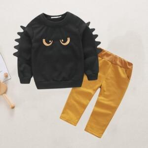 2-piece Cartoon Design Tops & Pants for Toddler Boy