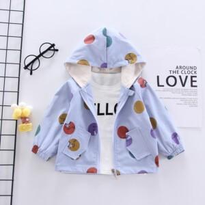 Fashion Color-block Polka dot Jacket