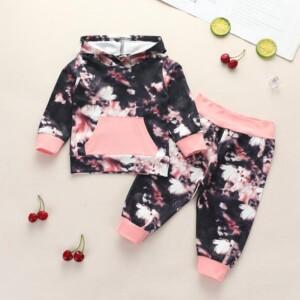 2-piece Tie Dye Hoodie & Pants for Baby Girl