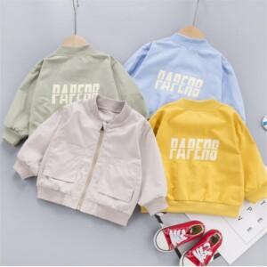 Letter Pattern Jacket for Toddler