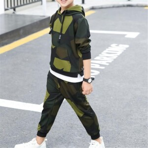 2-piece Camouflage Hoodie & Pants for Boy