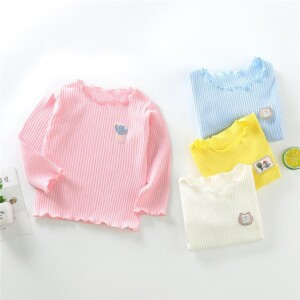 Solid Knit T-shirt for Toddler Girl