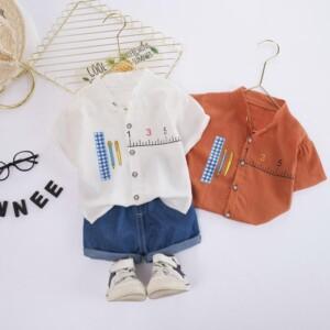 2-piece Cartoon Design Shirts & Shorts for Toddler Boy