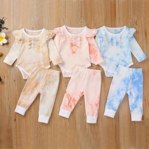 2-piece Tie Dye Bodysuit & Pants for Baby Girl