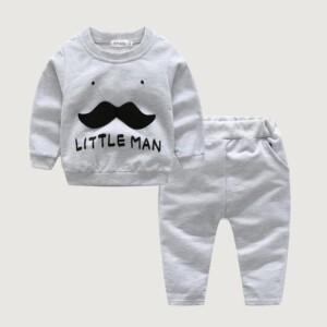 2 Pieces Casual Letter Top & Pants for Baby
