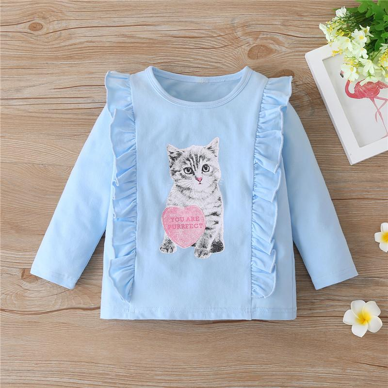 Cartoon Design Long Sleeve T-shirt for Toddler Girl