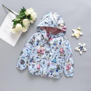 Cartoon Design Jacket for Toddler Girl