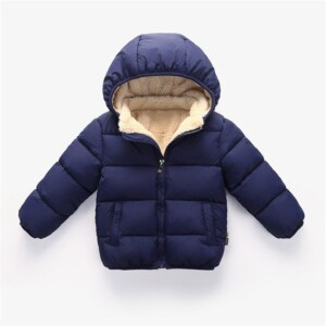 Solid Thick Puffer Jacket for Toddler Boy