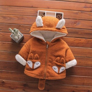 Plush Fox Design Jacket for Toddler Boy