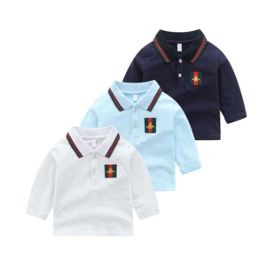 Solid Stripes Long Sleeve T-shirt for Toddler Boy