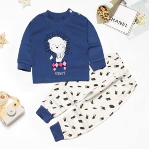 2-piece Lion Pattern Pajamas Sets for Toddler Boy