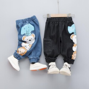 Cartoon Design Jeans for Toddler Boy