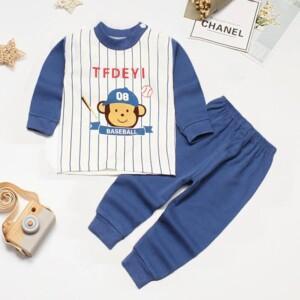 2-piece Animal Pattern Pajamas Sets for Toddler Boy