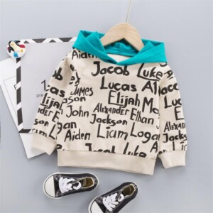Letter Pattern Hoodie for Toddler