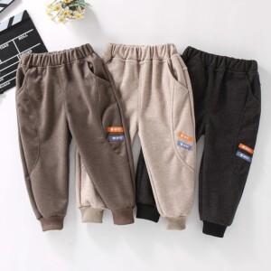 Solid Letter Knit Pants for Toddler Boy