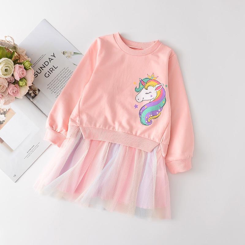 Cartoon Design Dress for Toddler Girl