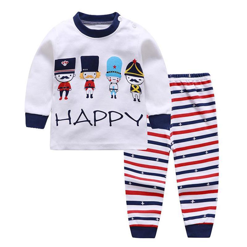 2-piece Figure Pattern Pajamas Sets for Toddler Boy