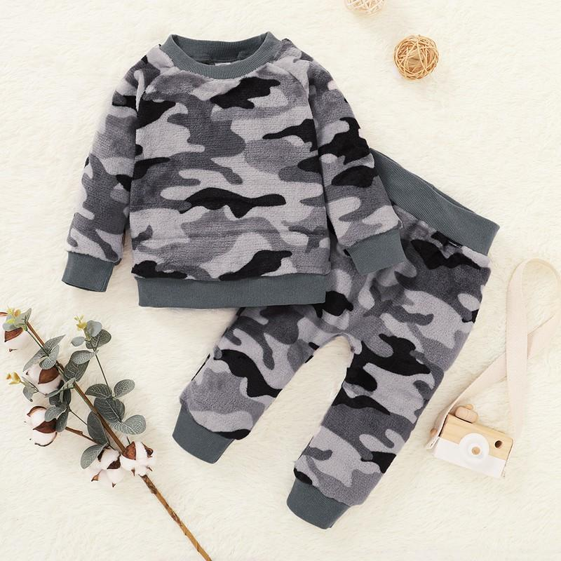 2-piece Camouflage Pajamas Sets for Toddler Boy