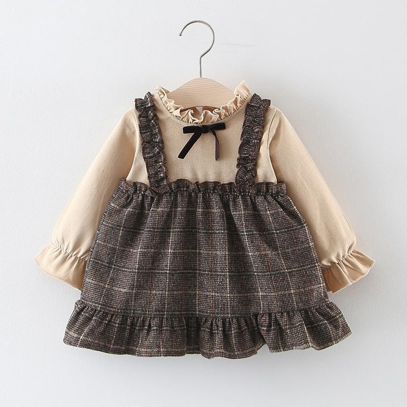 Plaid Pattern Dress for Toddler Girl