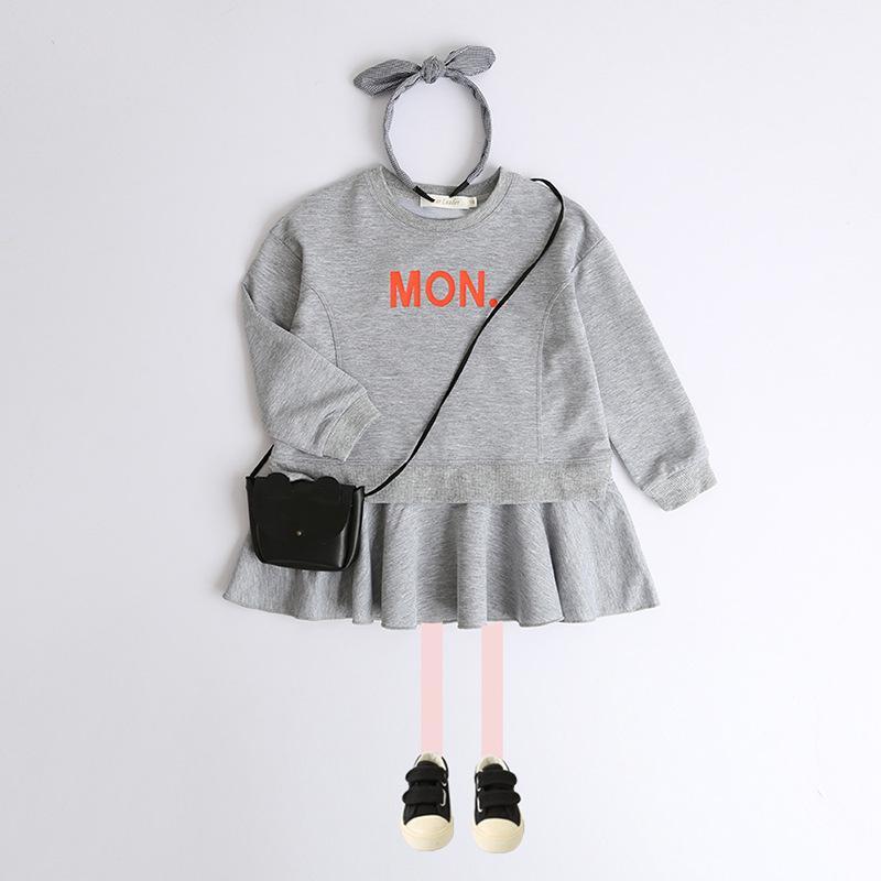 Casual Letter Pattern Dress for Toddler Girl