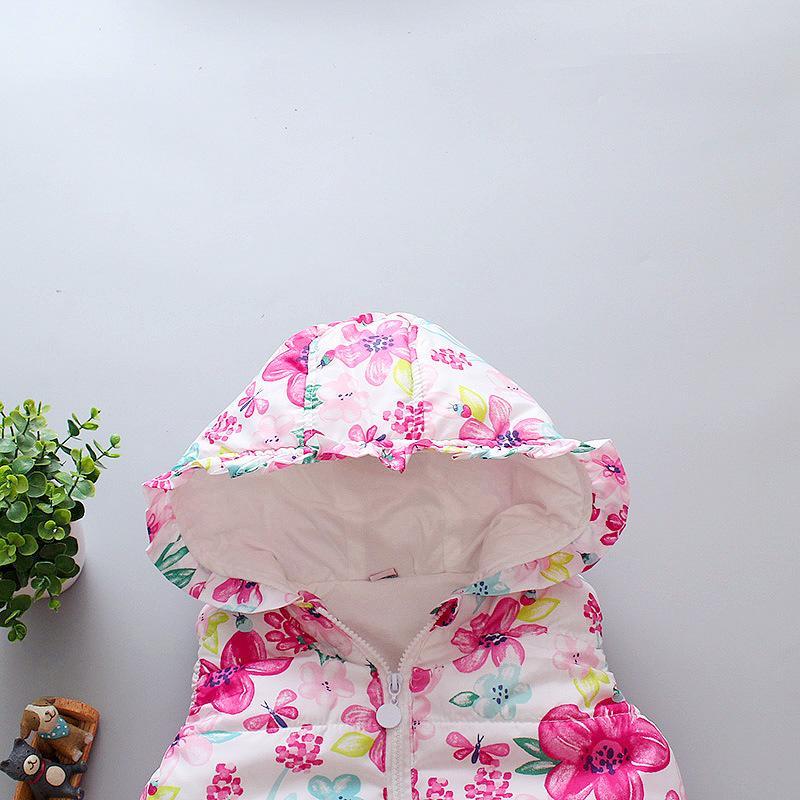 Floral Pattern Gilet for Toddler Girl