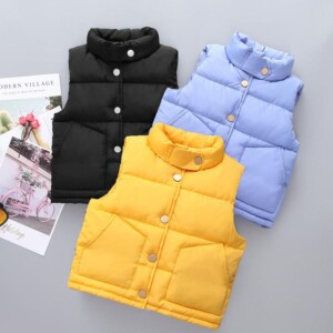 Solid Winter Thick Gilet for Toddler Boy