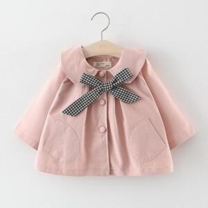 Bowknot Coat for Toddler Girl