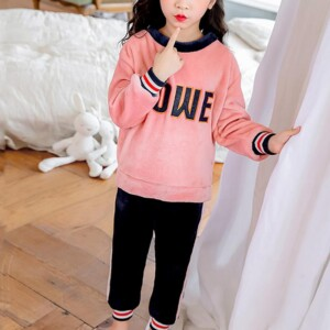 2-piece Letter Pattern Pajamas Sets for Girl
