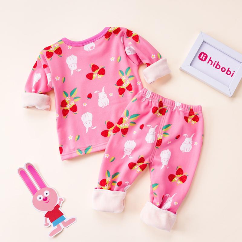 2-piece Floral Pattern Pajamas Sets for Toddler Girl