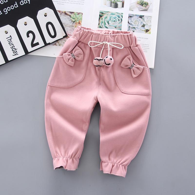 Colored balls Fleece-lined Sports Pants for Toddler Girl