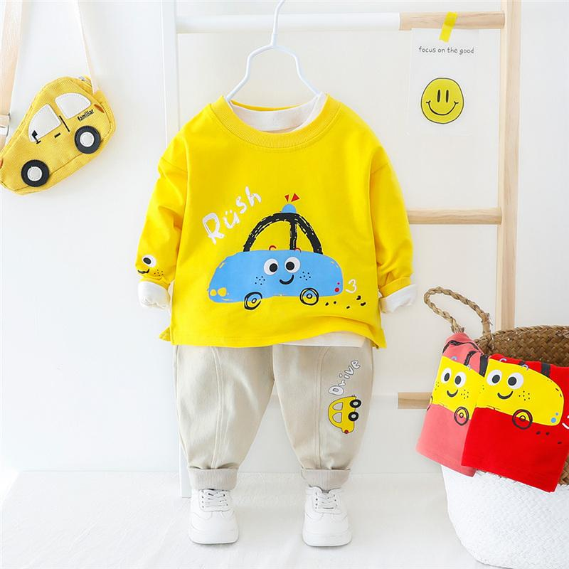 2-piece Cartoon Pattern Suit for Toddler Boy