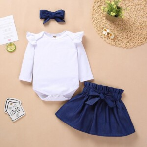 3-pieceJumpsuit & Skirt & Headwear for Baby Girl