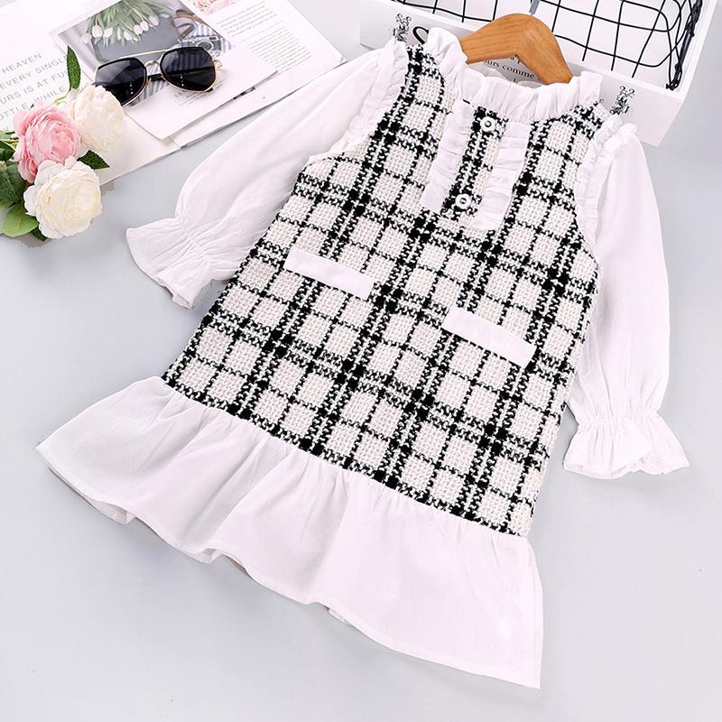 Sweet Plaid Dress for Toddler Girl