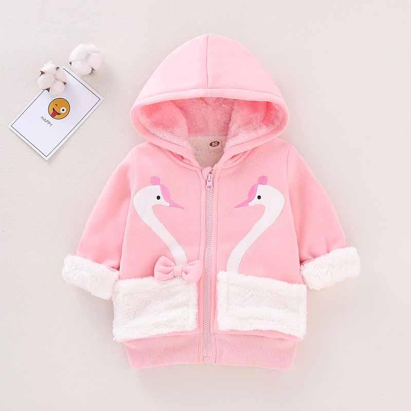 Animal Pattern Extra Thick Puffer Jacket for Toddler Girl