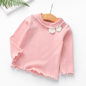 Solid Long Sleeve T-shirt for Toddler Girl