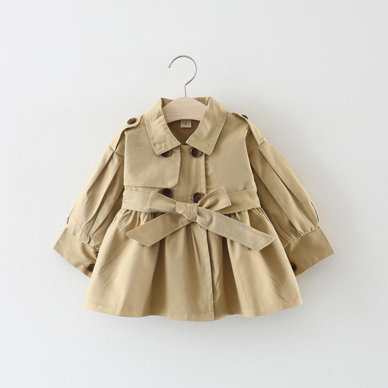 Bowknot Duffle Coat for Toddler Girl