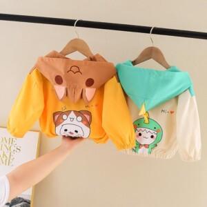 Cartoon Design Hooded Coat for Toddler Girl