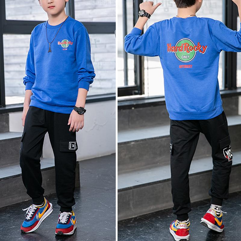 2-piece Letter Pattern hoodie & Letter Pattern Pants for Boy