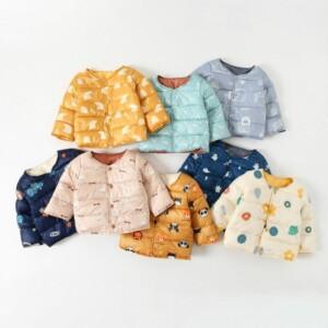 Cartoon Design Winter Plush Puffer Jacket for Toddler Girl