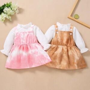 2-piece Tie dye Dress Set for Toddler Girl
