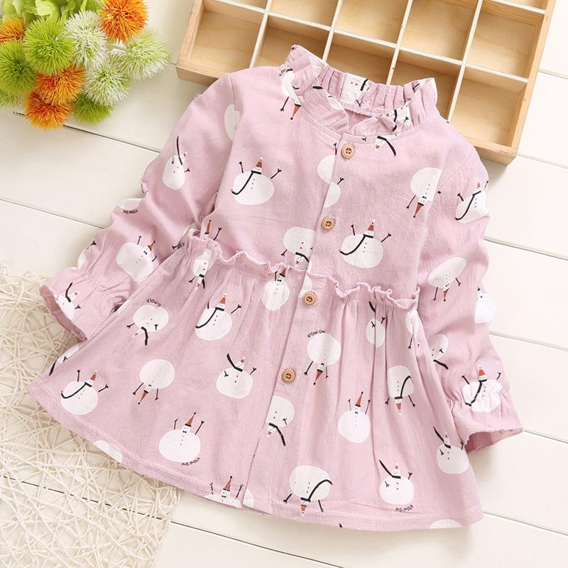 Cartoon Pattern Dress for Toddler Girl
