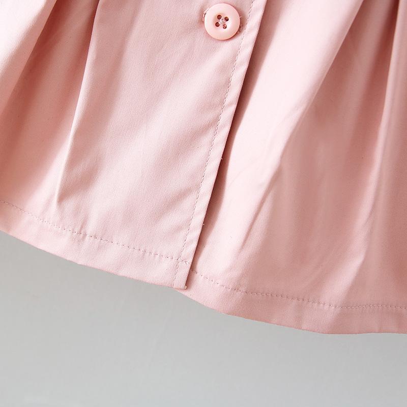 Ruffled lapel Coat for Toddler Girl