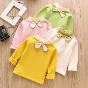 Fleece-lined Bow Lingerie for Toddler Girl